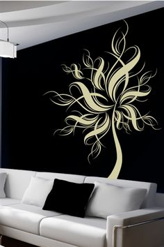 Azura Tree Wall Decals are a contemporary twist on the palm tree.  Allow this organic design to adorn your walls or windows and stylize your décor.  Available in 34 vinyl colors, 4 sizes and an orientation option, you are sure to create the perfect accent for any room in your home or office. Convert your walls into interesting landscapes in minutes with WALLTAT Wall Decals.