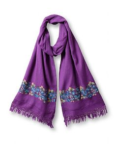 Nomi Embroidered Scarf