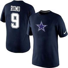 Nike #Dallas #Cowboys #9 Tony #Romo Name & Number #NFL #Shirt Midnight Blue #DC4L #gear