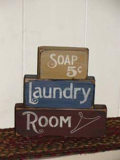 Primitive Laundry Stacking Blocks