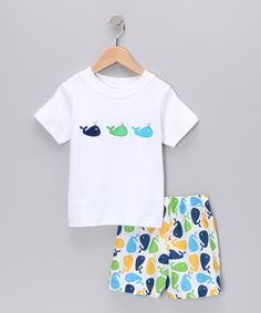 Take a look at this White Whale Tee & Shorts - Infant, Toddler & Boys by Petite Palace on #zulily today!