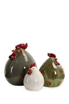 Imax Stylized Chickens
