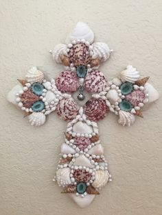 Sea shell cross