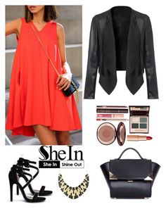 """Shein 1."" by amra-f ❤ liked on Polyvore featuring Qupid, Charlotte Tilbury, 1d, 5sos and NeonOrange"
