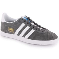 Adidas Gazelle OG Mens Trainers in Grey White