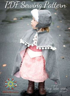 Hat  Cape Sewing Pattern Bundle Child's Hat by StitchwerxDesigns $12