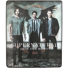 "Supernatural Join The Hunt Fleece Blanket 40""x60"" ($36) ❤ liked on Polyvore featuring home, bed & bath, bedding and blankets"