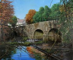 Bridge in Autumn by Eugene Conway