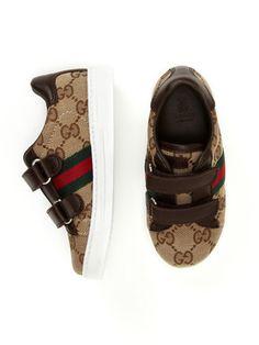 best sneakers 0eea9 a44a0 Gucci Trainer with Signature Web Logan, Istruttori, Figli, Regalo