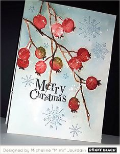 Beautiful Berry Bramble - All For Home İdeas Painted Christmas Cards, Gold Christmas Decorations, Watercolor Christmas Cards, Christmas Drawing, Christmas Paintings, Christmas Cards To Make, Diy Christmas Ornaments, Watercolor Cards, Xmas Cards