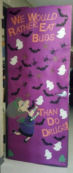 our door for red ribbon week