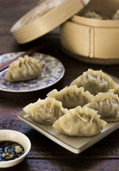 If you like the juicy, broth-filled Xiao Long Bao, you will love this Northern Chinese lamb version of the famed steamed dumplings. Making for Chinese NY 2015 Steamed Dumplings, Chinese Dumplings, Dumpling Filling, Dumpling Recipe, Sushi, Asian Recipes, Ethnic Recipes, Lamb Recipes, Meat Recipes