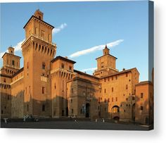 Castello Estense. Italy Acrylic Print by Marina Usmanskayafor home decor. All acrylic prints are professionally printed, packaged, and shipped within 3 - 4 business days and delivered ready-to-hang on your wall. Choose from multiple sizes and mounting options. Fantastic cosmic labyrinth turning into an earthly rose #MarinaUsmanskayaFineArtPhotography #Italy #Ferrara