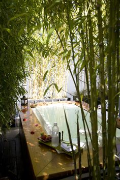 Spa Vitale (Embarcadero): It may be tiny, but this spa inside of Hotel Vitale packs a big punch. In addition to the three treatment rooms that boast Bay Bridge views (book a late massage and take in the twinkling lights while you relax), theres also a $60, 25-minute bathing ritual thats great for relaxing in a pinch. Strip down, dunk yourself in the rooftop tub (which is surrounded by pretty bamboo) drink tea and grub on a selection of fruit, and stare up at the clouds...