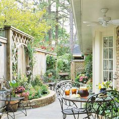 Better Homes and Gardens shows this idea for furnishing a courtyard. It is like a dream get away in your own yard. What a wonderful addition to my dream home.