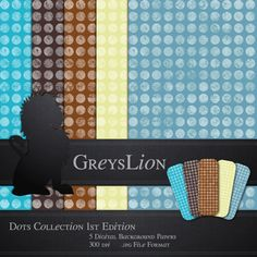 5 DIGITAL BACKGROUND PAPERS 12x12 blog background by greyslion, $0.99 Blog Backgrounds, Best Artist, Paper Background, Dots, Digital, Stitches, The Dot, Paper Backdrop, Polka Dots