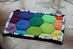 Rainbow mug rug