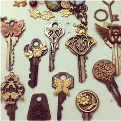 Pinterest Inspired Vintage Keys