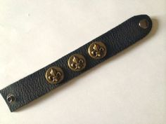Vintage Leather cuff bracelet by outoftheblueVINTAGES on Etsy, $35.00