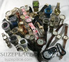 LARGE LOT OF WATCHES MENS & WOMENS SWISS ARMY FOSSIL NIKE WALTHAM 32 TOTAL SuzePlace.com
