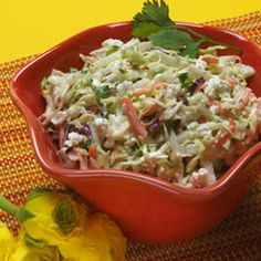 Acapulco Slaw (Low Carb and Gluten-Free) - with southwestern flavours and the fresh crunch of jicama