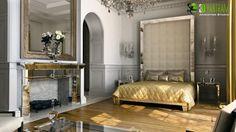 residential 3d interior rendering classic bedroom lagos