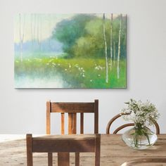 Add Warmth To The Dining Room With A Green Abstract Like Julia Purintons Spring