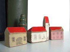 german wood houses + trees (1930s - 40s) - make door and window stamps?