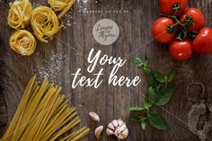 Rustic landscape mockup   Styled mockup   Italian food   Rustic image   Home made pasta   Italian recipe   For food blog   Instant download