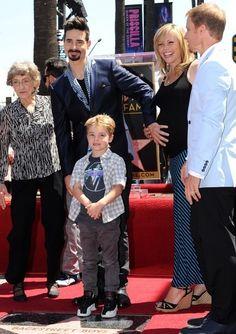 Backstreet Boys get their star...Kevin, Mason, Kristin and Ann Richardson with Brian Littrell