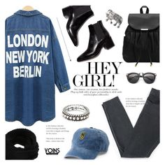 """""""Hey Girl! ~ Yoins #13"""" by alexandrazeres ❤ liked on Polyvore featuring Acne Studios, SO, denim, citygirl, yoins, yoinscollection and loveyoins"""