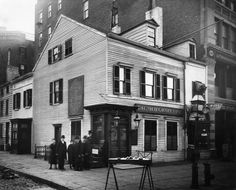 The Old Grapevine - a tavern at the corner of 6th Ave. & 11th St., built in the 18th century. Was a hangout for artists, actors, businessmen, lawyers, Confederate spies, & Union officers. Demolished in 1915.