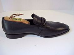 HUGO BOSS VARMIO Black Leather Loafer Dress Men's Shoe 8.5 NEW, ONLY LEFT SHOE…