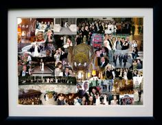 Don't hide your wedding photos away in an album! Share them with the world with one of our bespoke photo collages.