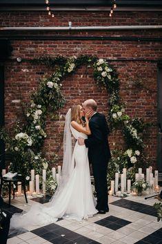 Real Weddings: Meet Clare. Gown:Carol Hannah Custom| Photography:Bonnie Jenkins| Flowers:Heavenly Blooms| Venue:Wythe Hotel| Videographer:Reel Brooklyn| Planner:Dawn Mauberret Events