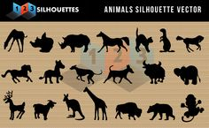 Animal Silhouettes Vector clip arts for free downloadFree Vector Silhouette Graphics