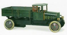 OLD TIN TOY TRUCK 1920s Germany (TCO=TIPP & CO / TIPPCO) WindUp