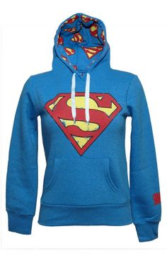 superman hoodie { for girls} - omg the inside! Need it but with Batman!