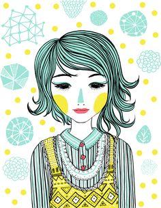 Yellow girl by Areli Manzana, via Behance