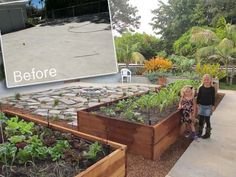 Hmm. Good ideas to have . . . just in case. Repurpose a concrete slab into a garden.