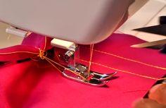 sewing machine thread bunching up