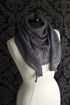 ...Jackson Square shawl by Beth Kling, as knitted by Owlish...
