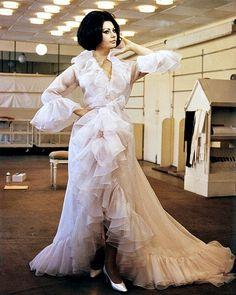 Sophia Loren in pale pink chiffon gown designed by Marc Bo…   Flickr
