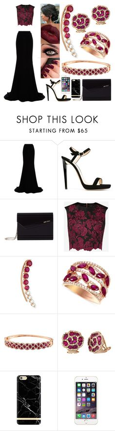"""""""Attending an Evening Party"""" by jessicagrewal ❤ liked on Polyvore featuring Naeem Khan, Jimmy Choo, Ted Baker, NARS Cosmetics, KENZI, Anita Ko, Effy Jewelry, women's clothing, women and female"""