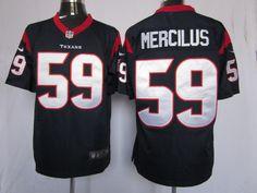 99c2780a26e66 Men s Nike Houston Texans Whitney Mercilus D-Blue Game Jersey