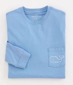 Vineyard Vines Whale Logo Long Sleeve Pocket Tee