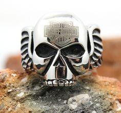 Кольцо Харли-Девидсон, Harley-Davidson, череп с крыльями