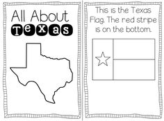 Texas Printables: Flag & State Outline from