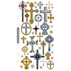 Cozy's Scrapbooking Friday Featured Item Sticko scrapbooking sticker Crosses item S-SPRG01.    $1.00    (Holiday, Seasonal, Church, Religion, Religious, Good Friday, Easter)