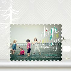 Jingle all the way! Share some 'Holly Jingle' with these #Christmas Cards by Petite Alma for Tiny Prints.